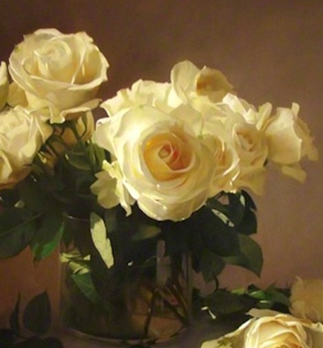 roses jaune et belle oeuvre originale de Daniel Trammer