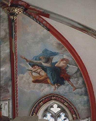 Fresque de Plafond chapelle de Daniel Trammer