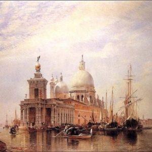 Le grand canal Venise oeuvre de Daniel Trammer