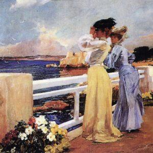 Femmes au bord de mer oeuvre de Daniel Trammer