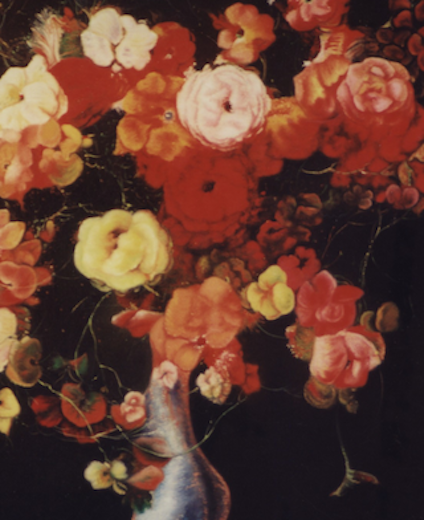 Les fleurs glacées oeuvre de Daniel Trammer
