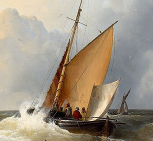 Marine mer du nord oeuvre de Daniel Trammer