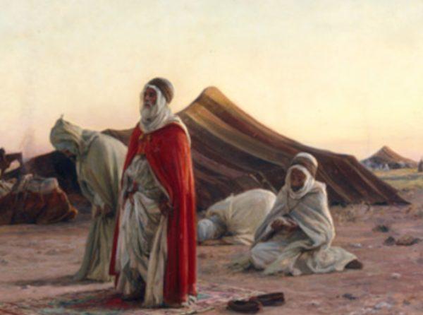 Paysage oriental les nomades 65x55cm,, (Oeuvre unique ) !