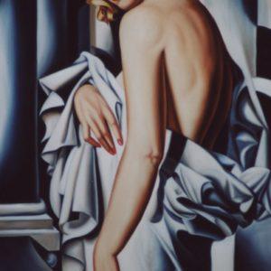 Femmes en robe grise oeuvre de Daniel Trammer