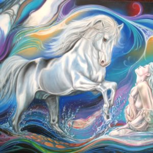 Cheval passion 140x120 cm oeuvre originale de Daniel Trammer