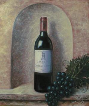 Fresques d'escalier, descente de cave à vin