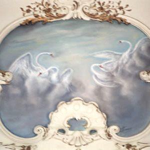 Fresques de salon dessus de portes